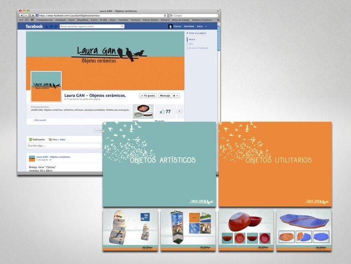 Gráfica de Fan Page de Facebook para Laura Gan