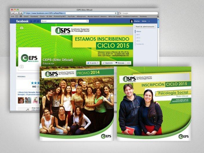 Gráfica de Fan page de Facebook para el Centro de Estudios en Psicología Social